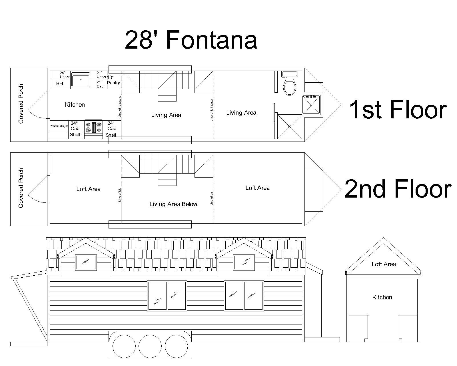 28 Fontana Cornerstone Tiny Home Plan